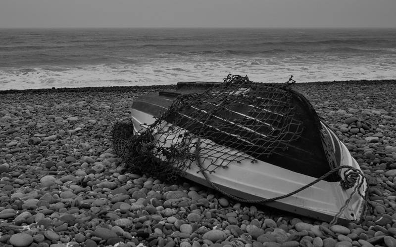 Upturned Fishing Boat