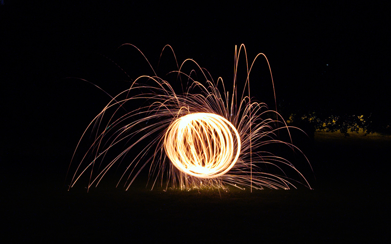 Wire Wool Spinning Orb